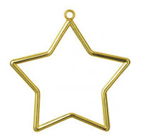 Frame: Plastic: Star Shaped: 9 x 7cm: Gold