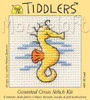 Yellow Seahorse Cross Stitch Kit by Mouse Loft