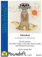 Meerkat Cross Stitch Kit by Mouse Loft