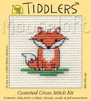 Little Fox Cross Stitch Kit by Mouse Loft