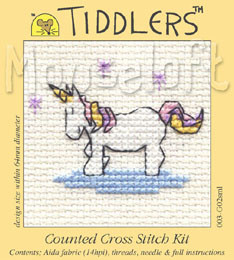 Little Unicorn Cross Stitch Kit by Mouse Loft