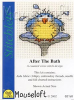 After The Bath Cross Stitch Kit by Mouse Loft