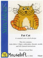 Fat Cat Cross Stitch Kit by Mouse Loft