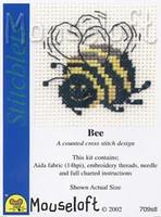 Bee Cross Stitch Kit by Mouse Loft