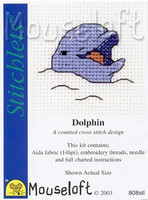 Smiling Dolphin Cross Stitch Kit by Mouse Loft