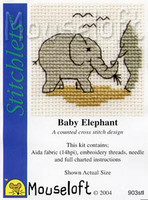 Baby Elephant Cross Stitch Kit by Mouse Loft