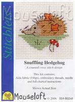 Snuffling Hedgehog Cross Stitch Kit by Mouse Loft