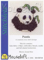 Panda Cross Stitch Kit by Mouse Loft