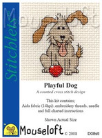 Playful Dog Cross Stitch Kit by Mouse Loft
