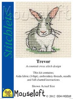 Trevor The Rabbit Cross Stitch Kit by Mouse Loft