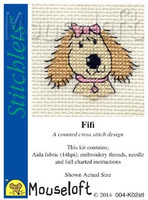 Fifi The Dog Cross Stitch Kit by Mouse Loft