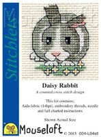 Daisy Rabbit Cross Stitch Kit by Mouse Loft