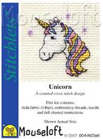 Unicorn Cross Stitch Kit by Mouse Loft