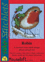 Robin Cross Stitch Kit by Mouse Loft