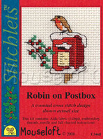 Robin on Postbox Cross Stitch Kit by Mouse Loft