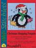 Christmas Shopping Penguin Cross Stitch Kit by Mouse Loft