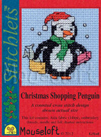 Christmas Shopping Penguin Cross Stitch Kit by Mouse Loft
