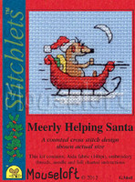 Meerly Helping Santa Cross Stitch Kit by Mouse Loft