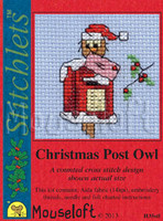 Christmas Post Owl Cross Stitch Kit by Mouse Loft