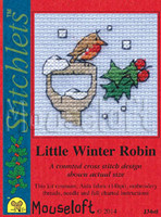 Little Winter Robin Cross Stitch Kit by Mouse Loft