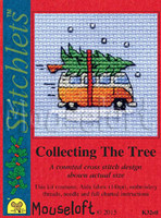 Camper Van Collecting The Tree Cross Stitch Kit by Mouse Loft