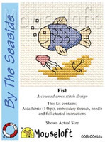 Fish Cross Stitch Kit by Mouse Loft