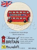 London Bus Cross Stitch Kit by Mouse Loft
