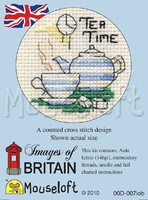 Tea Time Cross Stitch Kit by Mouse Loft