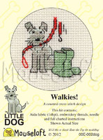 Walkies! Cross Stitch Kit by Mouse Loft