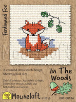 Ferdinand Fox Cross Stitch Kit by Mouse Loft