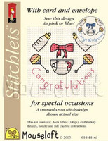 Congratulations Cross Stitch Kit by Mouse Loft