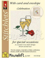 Celebration Cross Stitch Kit by Mouse Loft