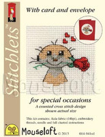 Meerkat with Rose Cross Stitch Kit by Mouse Loft