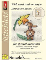 Springtime Bunny Cross Stitch Kit by Mouse Loft