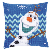 Disney: Olaf Chunky Cross Stitch Cushion Kit By Vervaco