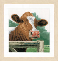Counted Cross Stitch Kit: Wondering Cow (Aida) By Lanarte
