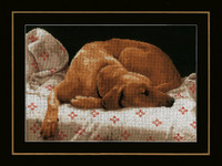 Counted Cross Stitch Kit: Sleeping Dog By Lanarte