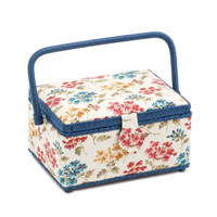 Flowers a Plenty HGM\278 Medium Rectangle Hobbygift Sewing Box