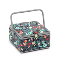 Square: Bot Boy  Medium Square Sewing Box By Hobby Gift
