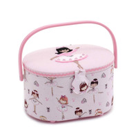 Ballerina  Small Oval Sewing Box By Hobby Gift