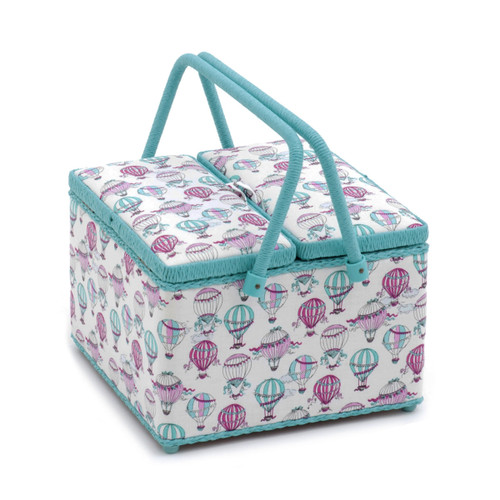 C'est La Vie  Square Twin Lid Sewing Box By Hobby Gift