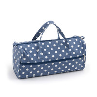 Denim Polka Dot  Knit Bag By Hobby Gift