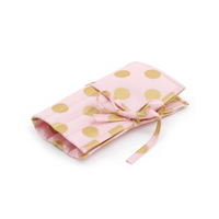Blush and Gold Dot  Crochet Hook Roll (Filled with Bamboo Hooks) By Hobby Gift