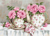 Morning Tea & Roses Cross Stitch Kit By Luca S