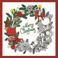 Christmas Wreath Zenbroidery Design