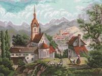 Monastery Cross Stitch Kit By Riolis