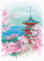 Sakura - Pagoda Cross Stitch Kit By Riolis