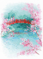 Sakura - Bridge Cross Stitch Kit By Riolis
