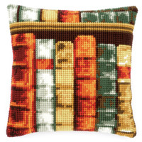 Books Chunky Cross Stitch Cushion Kit By Vervaco
