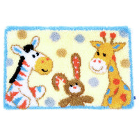 Furry Friends Latch Hook Rug Kit By Vervaco